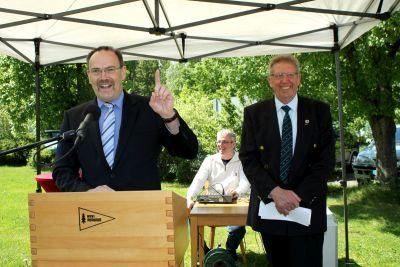 50 Jahre WSVI - Jubiläumsempfang - Hartmut Richter - Ortbürgermeister Langelsheim - war in seiner Jugend Mitglied der WSVI-Ruderjugend unter Leitung von Fritz Jahns